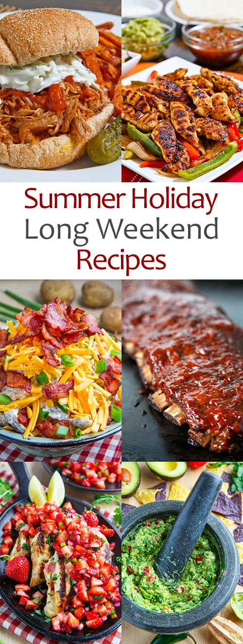 Summer Holiday Lon Weekend Recipes