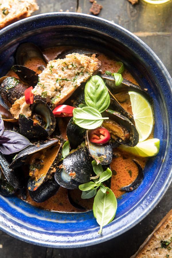 Thai-Coconut-Butter-Mussels-with-Garlic-Lemongrass-Toast-5